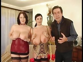 Bigtit Bozena plays with girl then fucked by man