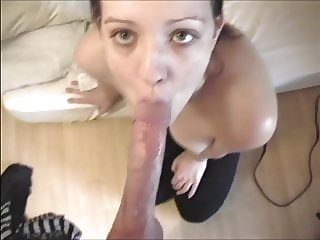 Fashion student Nice teasing blow job with tit wank