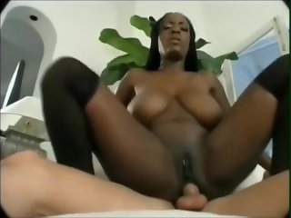 Big Boobs Ebony stepmom anal fucked by son