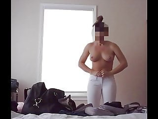 Wife changing, hidden camera
