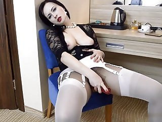 Layered nylons in black and white