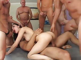 Teen in a Majestic Gangbang
