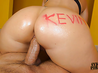 Custom for Kevin - Oiled Ass Cowgirl Fuck!