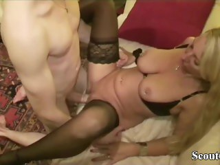 GERMAN BIG TITS MILF JENNY SEDUCE 18yr old YOUNG GUY TO FUCK
