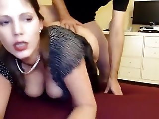 Slutty Milf fucked Doggy in ass and Pussy