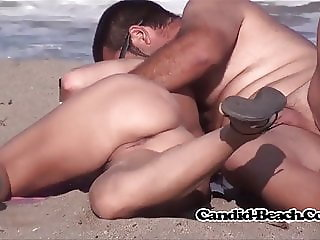 Hot Shaved Pierced spread pussy Nudist Lady Voyeur BEach Spy