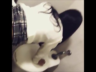korean high school couple fuck in toilet secretly