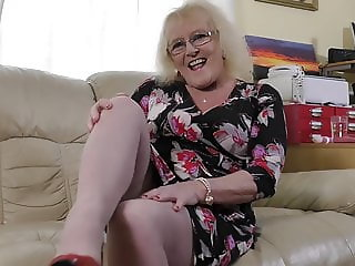British granny Claire with hungry vagina