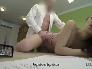 LOAN4K. It's not a casting but Kristy's pussy is fucked on camera