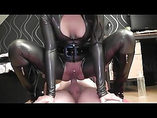 Hot Latex Anal Creampie