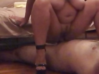 Catty ride husband with black high heels