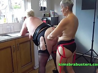 Granny lesbians in the kitchen