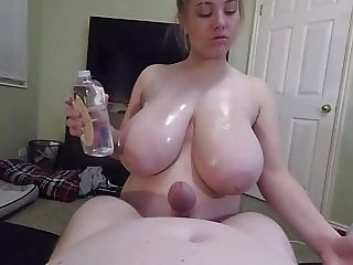 Hot BBW blowjob titfuck in POV