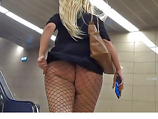 upskirts for fishnet booty