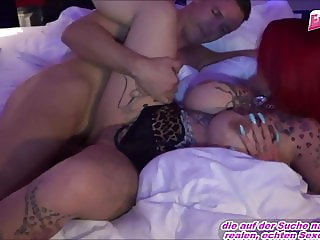 German hardcore hooker red head tattoo tits fuck in brothel