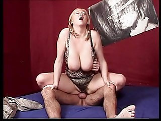 German Big Saggy Tits Blonde MILF Anal