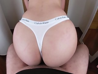 BIG ASS TEEN IN YOGA PANTS / CALVIN KLEIN THONGS FTW !! - POV HD