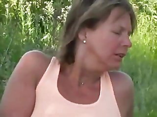 Mature play with pussy
