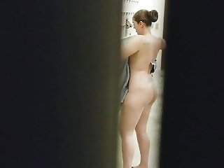 caught in the shower room