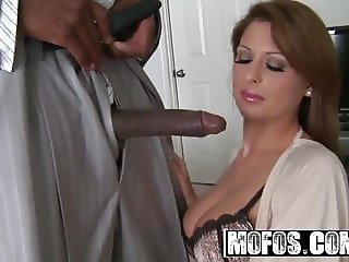 Alison Star gets pounded by some big black cock - MOFOS
