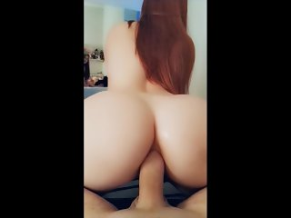 Snapchat Redhead Amateur Teen get ass fucked and Anal Creampie!!!