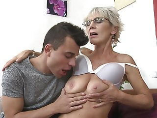 Hungry mother suck and fuck lucky son