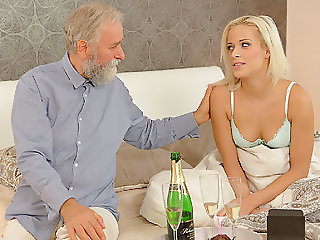 DADDY4K. Chick rides old gentleman's joystick in daddy porn