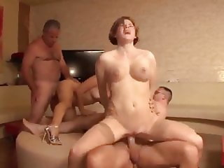 Gangbang with some Friend from the Internet