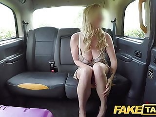 Fake Taxi Titwank rimjob hard sex & creampie for Brit babe