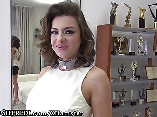 Petite Russian Rides Italian Stallion at Casting