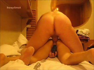 Amateur DP Practice - Shaking Orgasm - Huge Dildo In Pussy/Cock In Ass