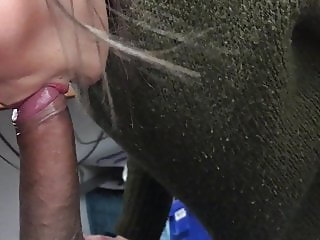 Young slut sucking my BBC some more