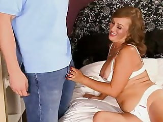 Beautiful Granny fucked by a big cook
