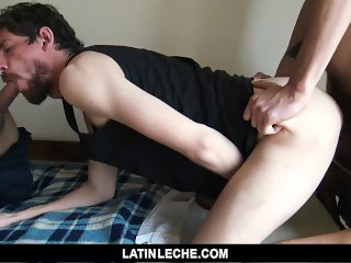 LatinLeche - Cute Punk Slurps Two Straight Cocks For Cash