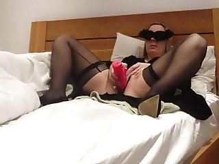 UK Shy Milf fucking her pink rabbit