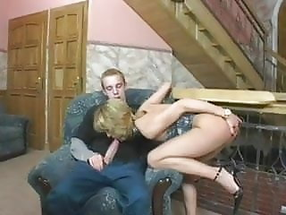 Older Mother Has A Drink Then Eats His Young Cum