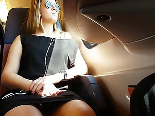 Upskirts on train