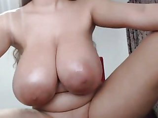 Amazing young brazilian girl with a huge tits