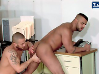 Beffy Man Gets His Hairy Hole Rimmed and Fucked by Buddy