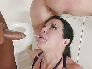 Nataly Gold & Veronica Avluv DAP and drink lots of piss Pt1