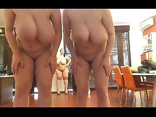 4 bbw show off their naked body