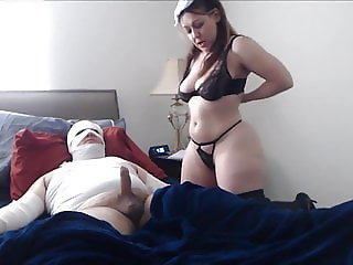 Homemade sex with nurse. Busty amateur woman
