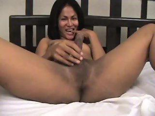 Super sexy skinny femboy masturbating her cock and cumming on belly