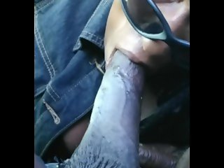 Hood head pulsating cum still sucking blowjob  nut