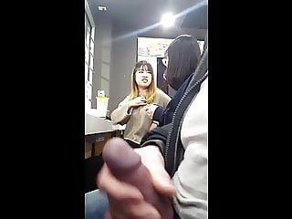 DICKFLASH 002: Sitting Beside 2 Asian Girls