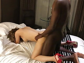 Milf fucks and cums with BBC lover in front of cuck
