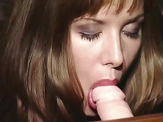 Classic English beauty strips, sucks & rubs