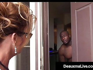 Busty Texas Cougar Deauxma Sucks Big Black Cock For Tax Loan