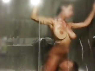 Horny Amateur Teen with Stranger in Shower During Vacation
