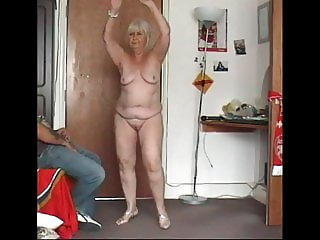 Granny Naked dancing and cum swallow